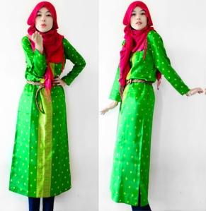 hijab baju hijau