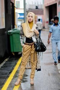 hijab coklat