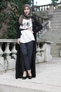 hijab hitam