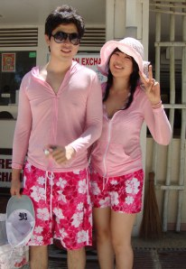 baju couple serba pink
