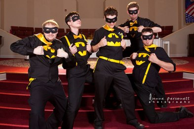 batman theme in wedding