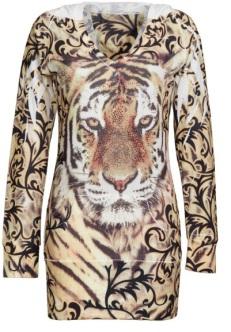 animal print top