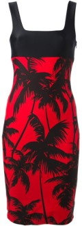 red palm tree dress