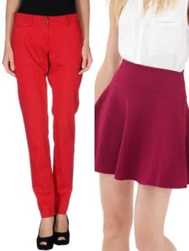 red pants-red skirts