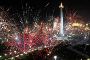 antarafoto-TahunBaruMonas pesta kembang api 2016
