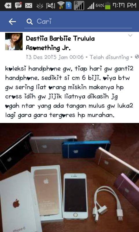 status anak alay powerbank diakuin iphone