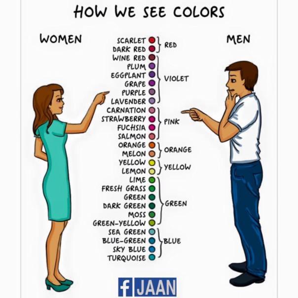 women vs man see colors