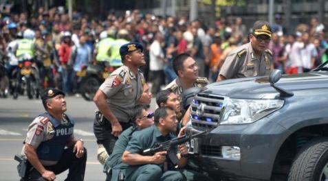 aksi polisi lawan teror di bom sarinah