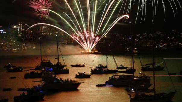 kembang api di australia