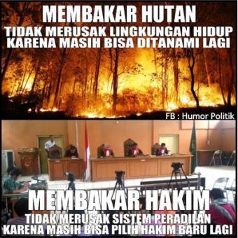 meme bakar hutan tidak masalah