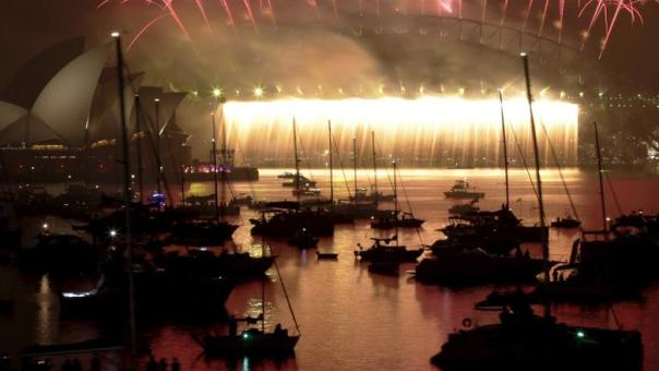 perayaan kembang api di tahun 2016 di Australia