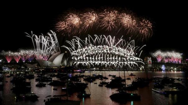 pesta kembang api di australia