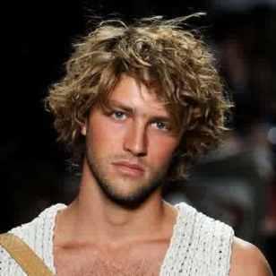 potongan rambut ikal untuk laki-laki terbaru-2016