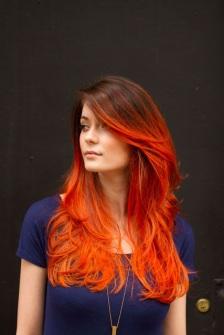 rambut oranye 2 keren untuk wanita