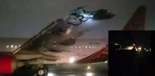 Pesawat batik air terbakar