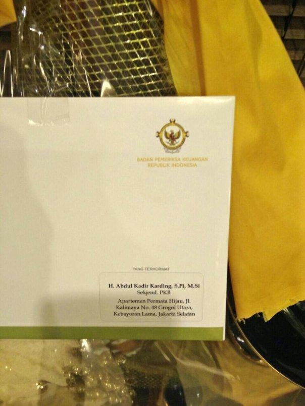 Parsel BPK untuk anggota DPR