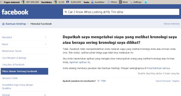 Jebakan Mengintip Profil Facebook