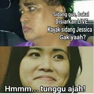 Meme Dimas Kanjeng dan Jessica Wongso