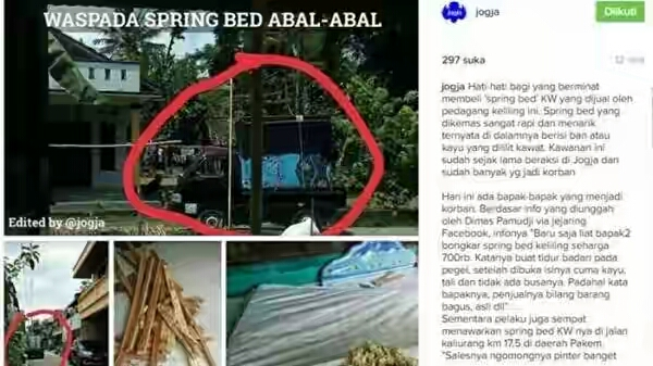 Spring bed abal-abal