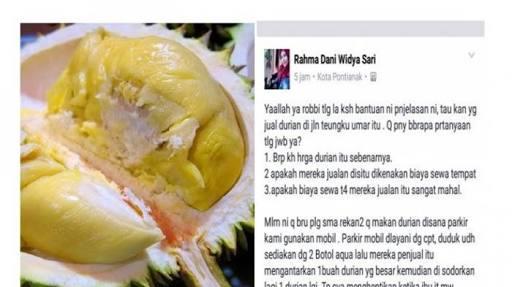 Makan 2 durian bayar 700 ribu