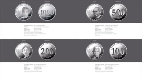 Bentuk uang logam baru Indonesia