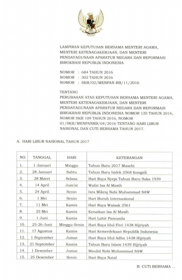 Skb 3 menteri hari libur nasional 2017-3