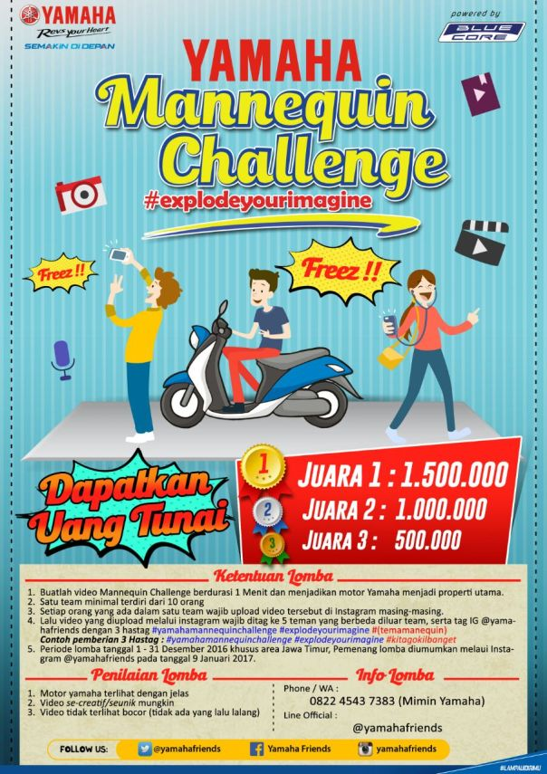 Yamaha Mannequin Challenge