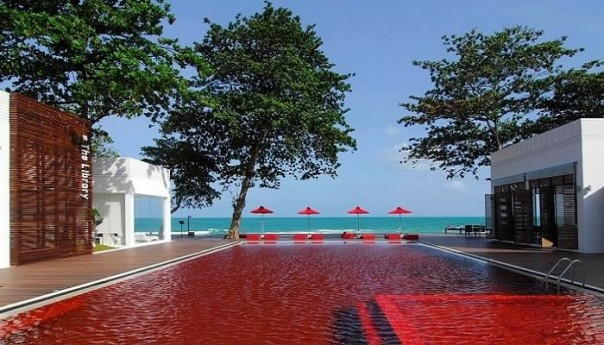 Pool red, koh samui, thailand