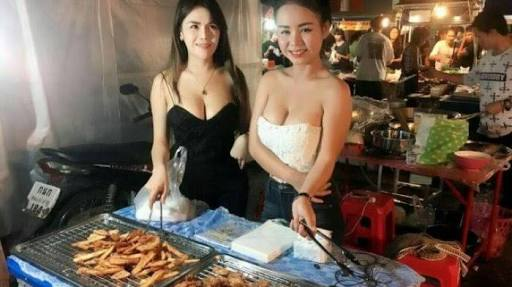 Penjual pisang goreng seksi
