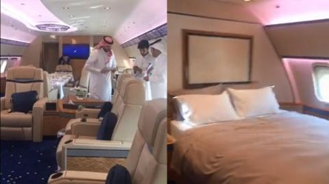 Pesawat Raja Arab Saudi