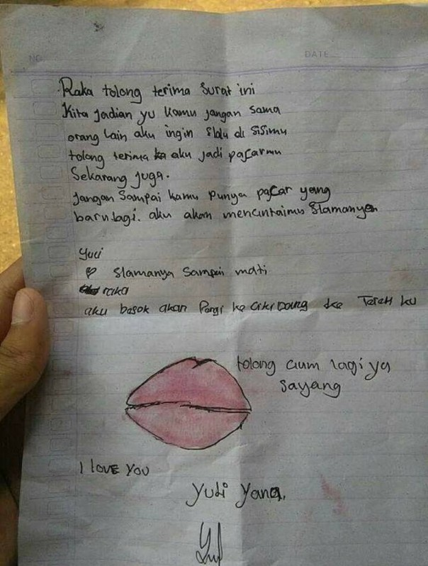 Surat cinta anak SD