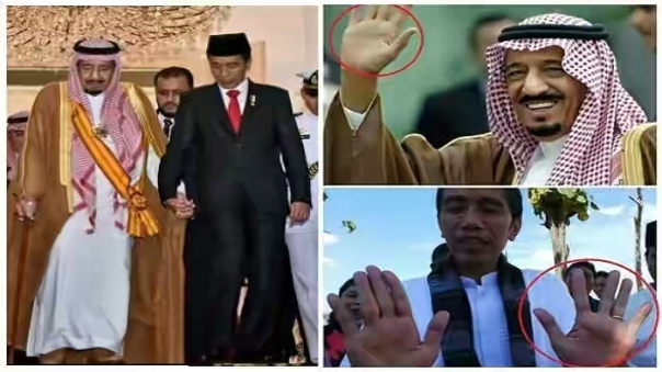Ilustrasi - Garis tangan Raja Salman dan Presiden Jokowi
